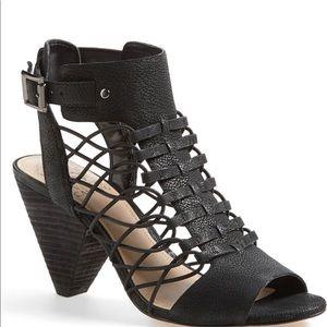 Vince Camuto Evel Caged Black Sandal Size - 9